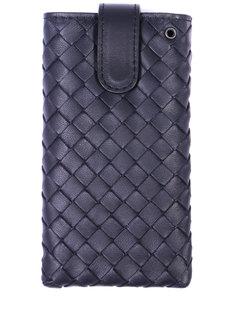 Кожаный чехол для iPhone 326275/ Синий Bottega Veneta