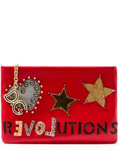 Клатч Cleo с аппликациями bb6370/632клепки Красный Dolce & Gabbana