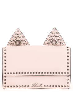 Кожаная сумка 81KW3048 Роз. пудра/ушки/клепки Karl Lagerfeld
