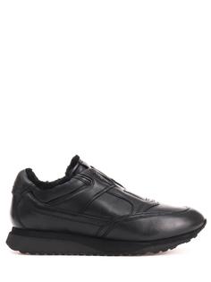 Утепленные кроссовки из кожи MBFL20992 N01 Santoni