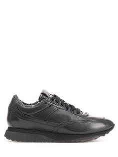 Утепленные кроссовки из кожи MBFL20861 N01 Santoni