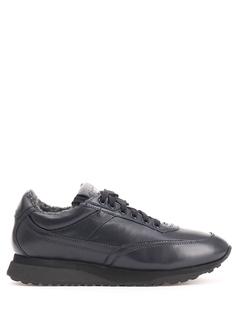 Утепленные кроссовки из кожи MBFL20861 U60 Santoni