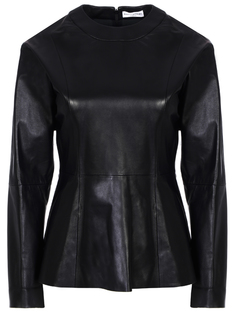 Блуза кожаная 11910029-2/001 Sonia Rykiel