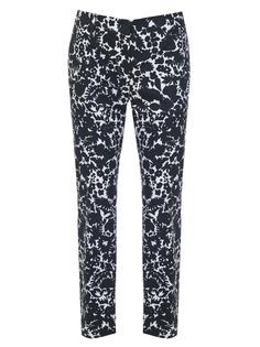 Укороченные брюки с принтом P2469/ Белый,Черный Prada