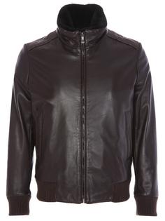 Кожаная куртка с мехом нутрии Bilancioni