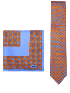Комплект галстук и платок Brioni