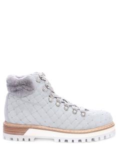 Замшевые ботинки с мехом Lesilla