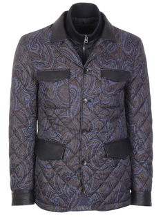 Стеганая куртка с принтом Etro