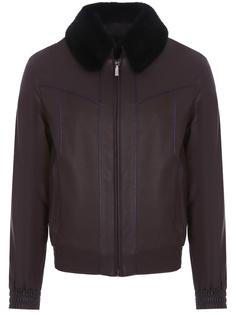 Кожаная куртка с мехом ласки Zilli