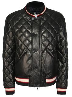 Стеганая кожаная куртка Ermanno Scervino