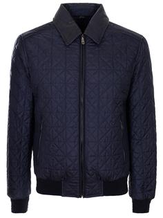 Куртка со вставками из кожи Brioni