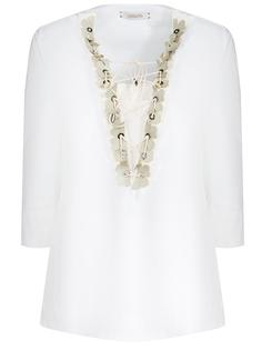 Хлопковая блуза 943406-кож цв Белый Dorothee Schumacher