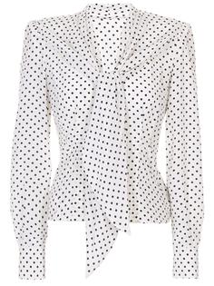 Шелковая блуза в горох F5L52T FS14L HAMON Dolce & Gabbana