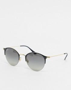 Черные солнцезащитные очки в круглой оправе Ray-ban ORB3578-Черный