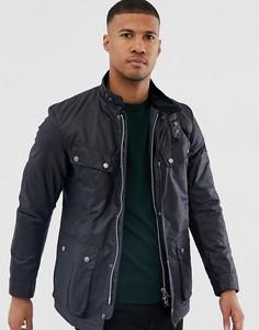 Узкая темно-синяя вощеная куртка Barbour International-Темно-синий