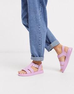Розовые силиконовые сандалии-гладиаторы London Rebel-Оранжевый