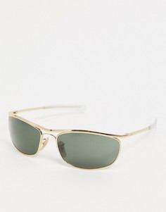 Солнцезащитные очки-авиаторы в золотистой оправе Ray-ban ORB3119M-Золотой
