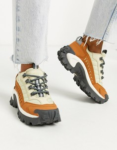 Бежевые кроссовки на массивной подошве CAT Intruder-Бежевый Caterpillar