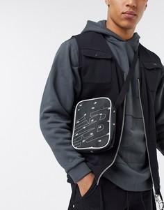 Черная классическая сумка через плечо с принтом New Balance-Черный