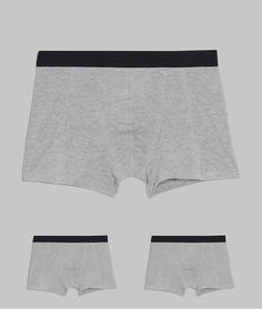 Набор из 2 серых боксеров-брифов из органического хлопка Produkt-Серый
