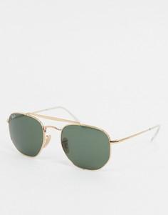 Золотистые солнцезащитные очки в шестигранной оправе Ray-ban ORB3648-Золотой