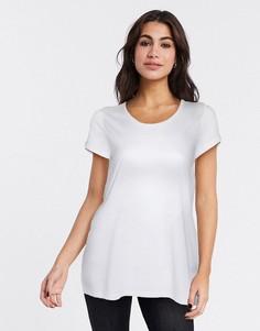 Белая футболка с овальным вырезом French Connection-Белый
