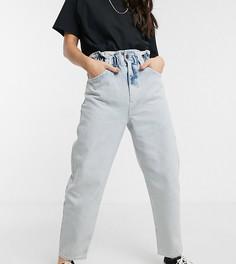 Синие джинсы с завышенной талией и эффектом кислотной стирки Reclaimed Vintage inspired The 96-Синий