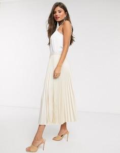Плиссированная юбка Closet London-Белый
