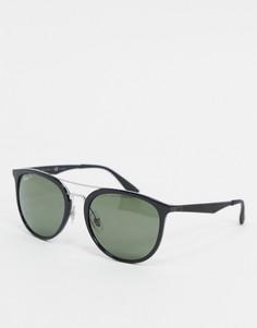 Черные солнцезащитные очки в круглой оправе Ray-ban ORB4285-Черный