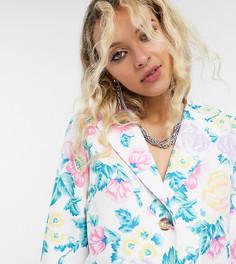 Пиджак от комплекта с цветочным принтом Reclaimed Vintage inspired-Мульти