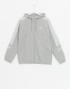 Серая ветровка Adidas Originals-Серый