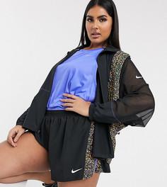 Черная куртка с принтом на вставках Nike Running Plus-Черный