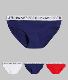 Набор из 3 трусов с фирменным поясом Brave Soul-Мульти