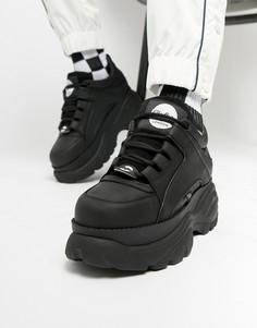 Черные кроссовки на массивной подошве Buffalo-Черный