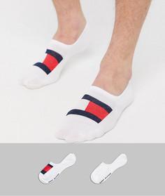 Набор из 2 пар белых невидимых носков с логотипом-флагом Tommy Hilfiger-Белый