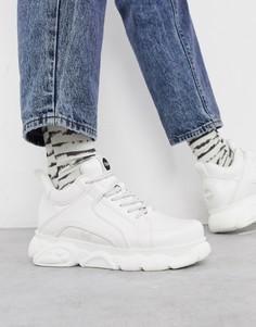 Белые кроссовки на массивной подошве Buffalo-Белый