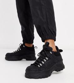 Черные походные кроссовки со змеиным рисунком Buffalo london-Черный