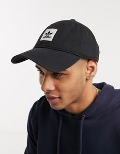 Черная кепка с логотипом adidas Originals-Черный