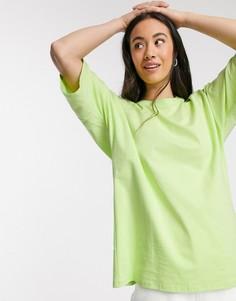 Футболка в стиле oversized лаймового цвета ASOS DESIGN-Зеленый