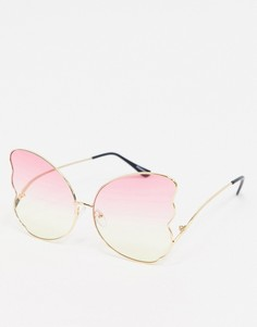 """Солнцезащитные очки с дизайном """"бабочка"""" My Accessories London-Мульти"""