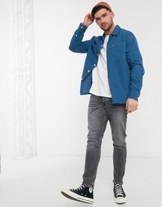 Синяя рубашка с карманами Farah-Синий