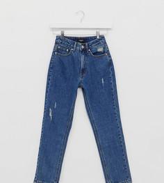 Синие джинсы в винтажном стиле с завышенной талией Vero Moda Petite-Синий