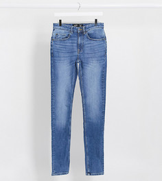 Ярко-синие джинсы скинни Burton Menswear Big & Tall-Синий