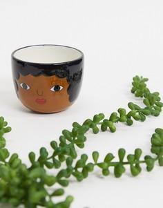 """Маленький цветочный горшок с дизайном """"лицо"""" Sass & Belle-Мульти"""