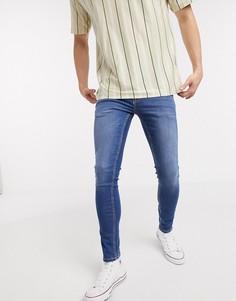 Ярко-синие джинсы скинни New Look-Синий