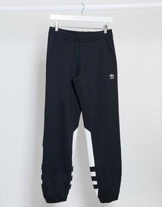 Черные спортивные штаны с логотипом adidas Originals adicolor-Черный