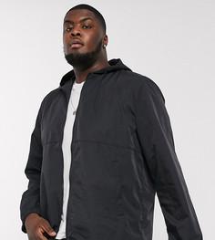 Черная складываемая куртка-дождевикASOS DESIGNPlus-Черный
