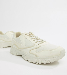 Бежевые кроссовки для широкой стопы с толстой подошвой ASOS DESIGN-Белый
