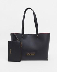 Черная сумка-тоут с логотипом Love Moschino-Черный