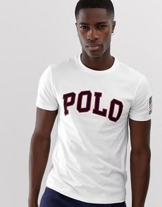 Белая футболка с логотипом-аппликацией Polo Ralph Lauren-Белый